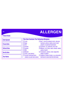 Allergen Day Dot Labels