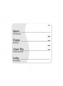 "Shelf Life Label 2"" x 2"""